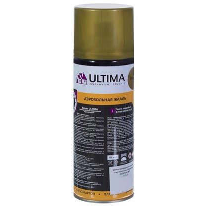 Краска аэрозольная Ultima цвет золотой металик