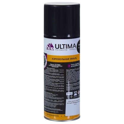 Краска аэрозольная Ultima глянцевая цвет черный RAL 9005