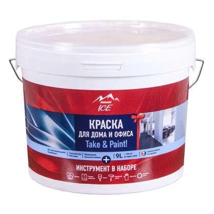 Краска для дома и офиса Parade Ice Take& Paint база А цвет белый 9 л