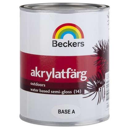 Купить Краска для фасадов Beckers Akrylatfarg 0.9 л дешевле