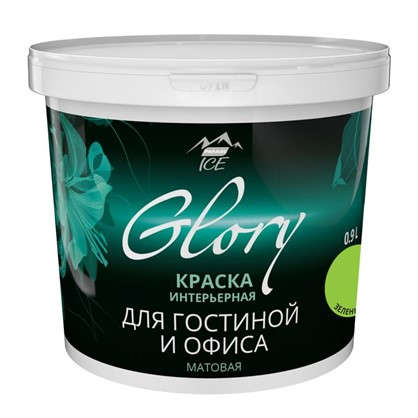 Краска для гостинной Glory 0.9 л цвет зеленый луг