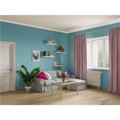 Краска для гостиной и офиса цвет лазурно-серый 2.5 л