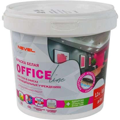 Краска для офиса Office Line износостойкая цвет белый 1.2 кг