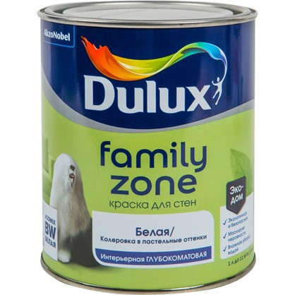 Купить Краска для стен и потолков Dulux Family Zone база BW 1 л дешевле