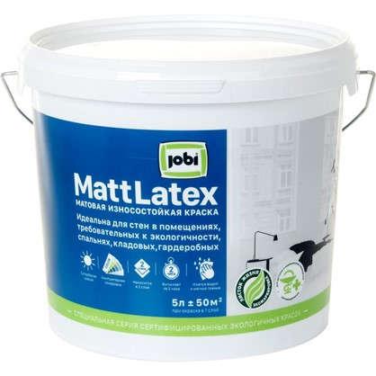 Краска для стен и потолков Jobi Mattlatex база А 5 л
