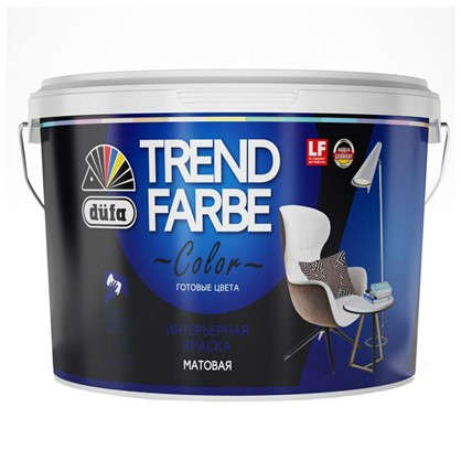 Краска для стен и потолков Trend Farbe цвет Черный ворон 1 л