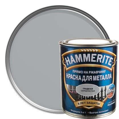 Купить Краска гладкая Hammerite цвет серебристый 0.75 л дешевле
