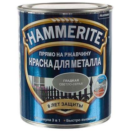 Купить Краска гладкая Hammerite цвет светло-серый 0.75 л дешевле