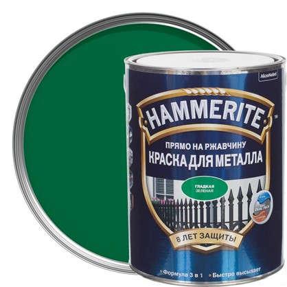 Купить Краска гладкая Hammerite цвет зеленый 5 л дешевле
