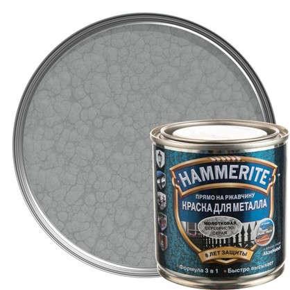 Купить Краска молотковая Hammerite цвет серебристо-серый 0.25 л дешевле