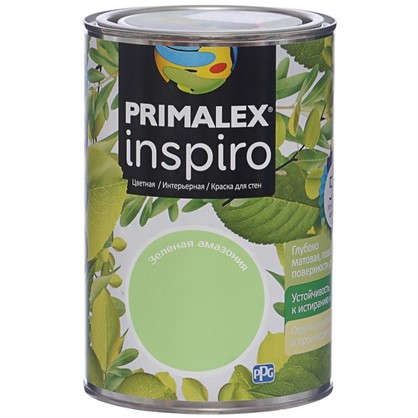 Краска Primalex Inspiro 1 л Зеленая Амазония