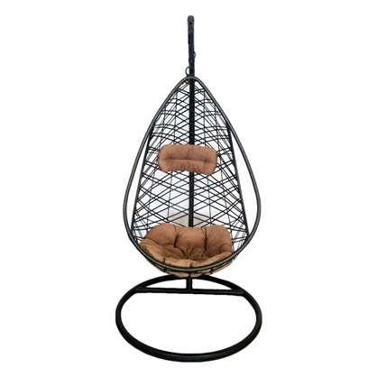 Купить Кресло подвесное Кения цвет коричневый (без опоры) дешевле