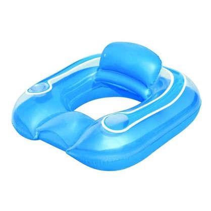 Кресло водное надувное круглое 102х94 см ПВХ цвет голубой