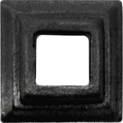 Крышка нижняя декоративная под трубу 20x20 мм сталь