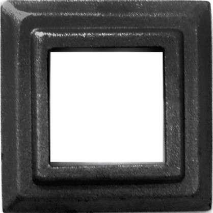 Крышка нижняя декорированая под трубу 30х80х80 мм сталь