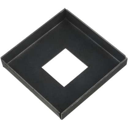 Купить Крышка нижняя под трубу 20х110х110 мм сталь дешевле