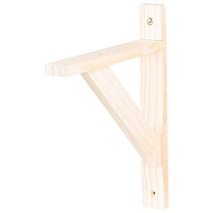 Купить Кронштейн деревянный №15 20х25 см нагрузка до 30 кг бук дешевле