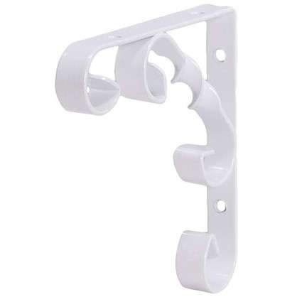 Купить Кронштейн Орнамент 10х10 см нагрузка до 25 кг цвет белый дешевле