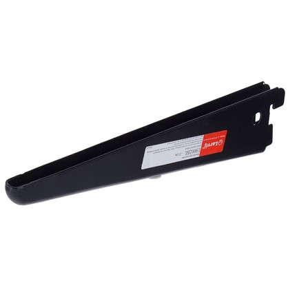 Кронштейн прямой двухрядный 22 см нагрузка до 55 кг цвет черный