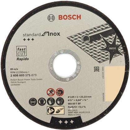 Круг отрезной по металлу Bosch 125х1х22.23 мм