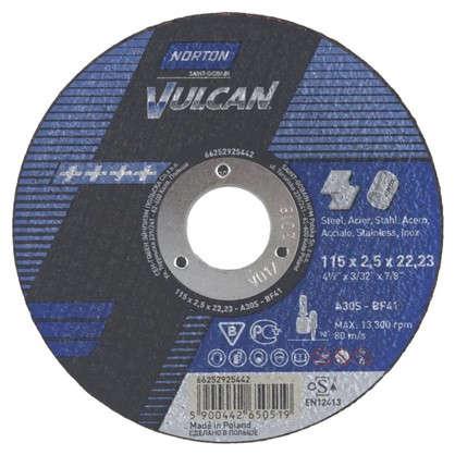 Купить Круг отрезной по металлу Norton тип 41 115x2.5x22.2 мм дешевле