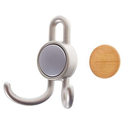 Крючок 15.101 56 кг цвет матовый никель/орех