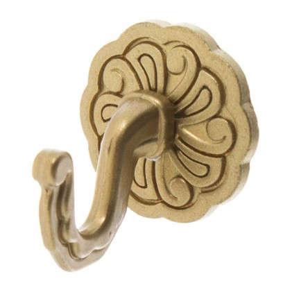 Крючок Ампир металл цвет матовое золото 2 шт.