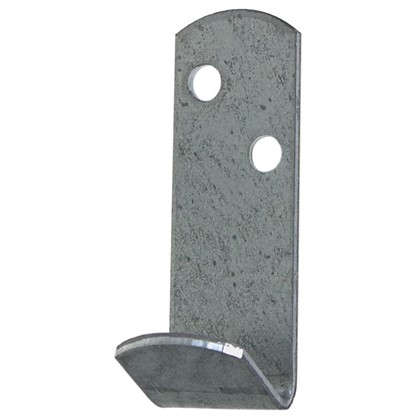 Крючок для одежды Петротех 55x20x20 мм оцинкованный сталь цвет хром 4 шт.
