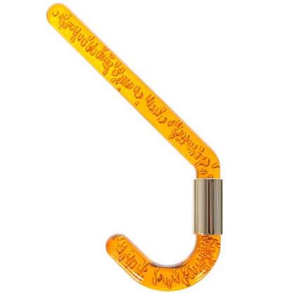 Крючок маленький 112-113 мм цвет янтарь/золото