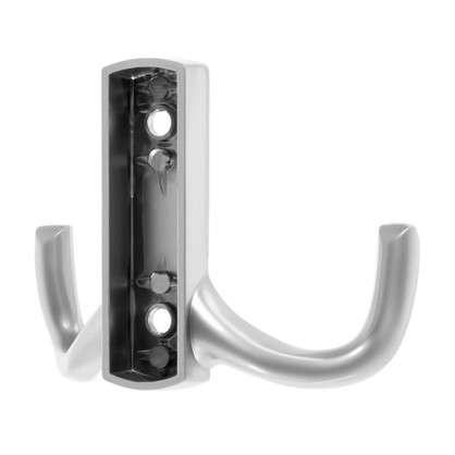 Крючок мебельный K204SN двойной цинк/алюминий цвет матовый никель