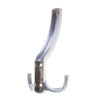 Крючок мебельный K305SC большой цинк/алюминий цвет матовый хром