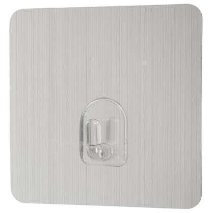 Крючок на силиконовом креплении 6.8x6.8 мм до 1.5 кг цвет серебро 2 шт.