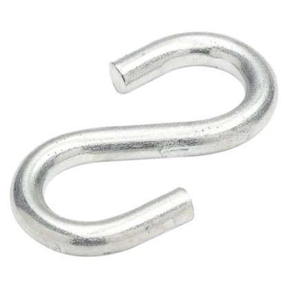 Крючок S-образный Standers 4х6.5 мм сталь оцинкованная цвет серебристый
