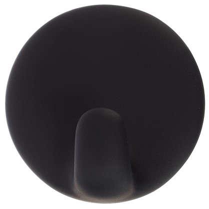 Крючок самоклеющийся черный