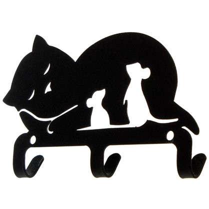Крючок трехрожковый DuckandDog Кошка сталь матовый черный