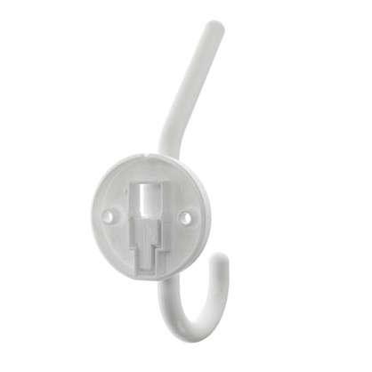 Крючок-вешалка однорожковый пластик цвет белый