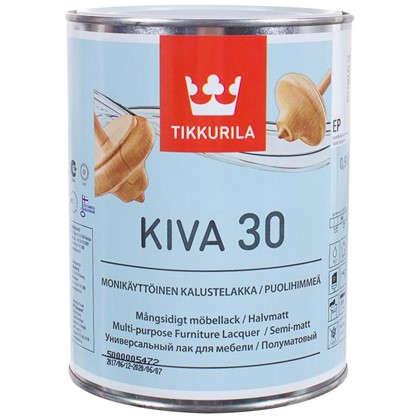Лак для мебели акриловый полуматовый Tikkurila Kiva 30 0.9 л