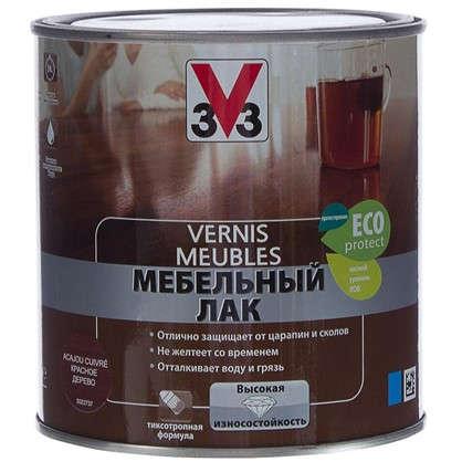 Лак для мебели V33 акриловый цвета красное дерево 0.5 л