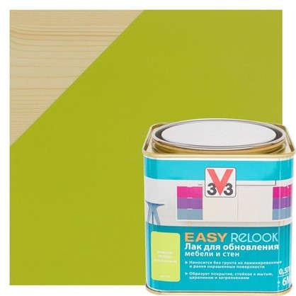 Лак для мебели V33 цвет зеленое яблоко 0.5 л
