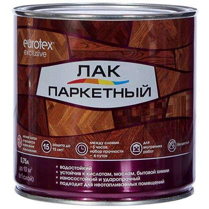 Купить Лак паркеный Eurotex алкидно-уретановый полуматовый бесцветный 0.75 л дешевле