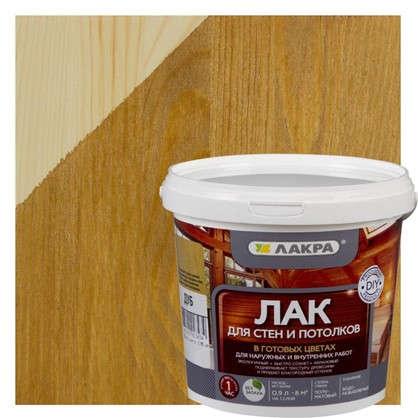 Лак тонированный для стен и потолка Лакра цвет дуб 0.9 л