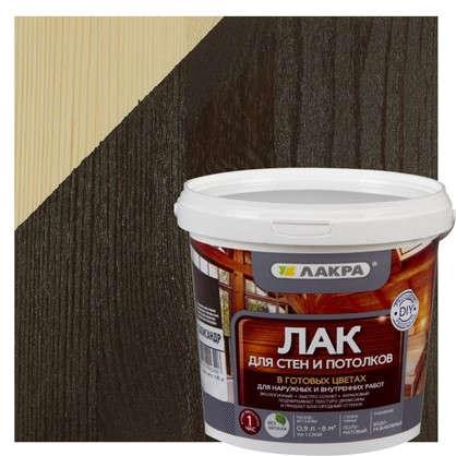 Лак тонированный для стен и потолка Лакра цвет палисандр 0.9 л
