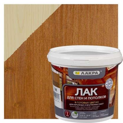 Лак тонированный для стен и потолка Лакра цвет тик 0.9 л