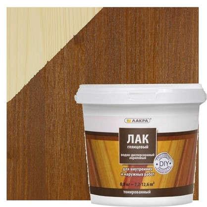 Лак тонированный водный цвета орех 0.9 кг