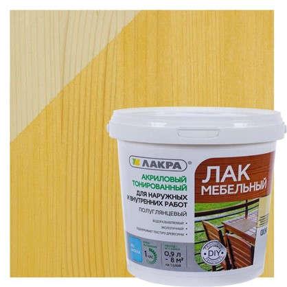 Лак тонированный водный цвета сосна 0.9 кг
