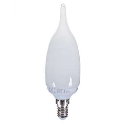 Купить Лампа энергосберегающая Lexman свеча на ветру E14 11 Вт свет тёплый белый дешевле