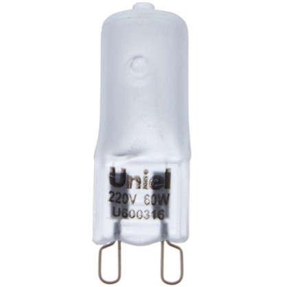 Лампа галогенная Uniel G9 60 Вт свет теплый белый