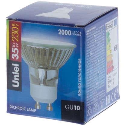 Лампа галогенная Uniel GU10 35 Вт свет теплый белый