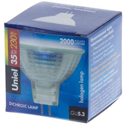 Лампа галогенная Uniel GU5.3 35 Вт свет теплый белый