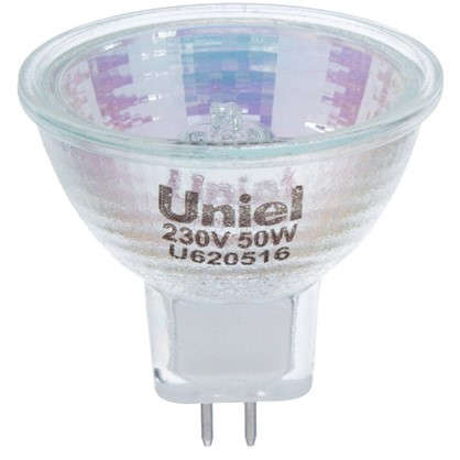 Лампа галогенная Uniel GU5.3 50 Вт свет теплый белый